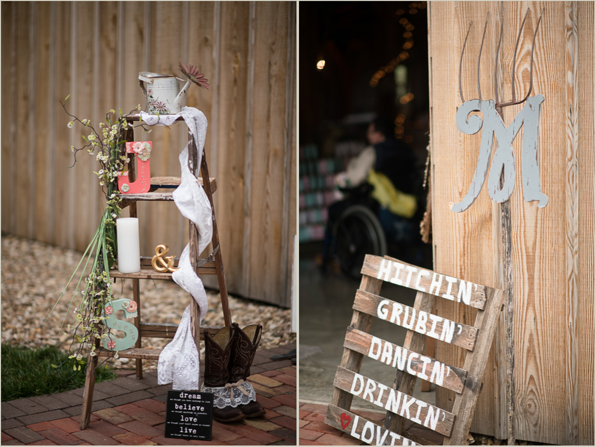 Vintage Barn Wedding Details at Schwinn Produce Farm