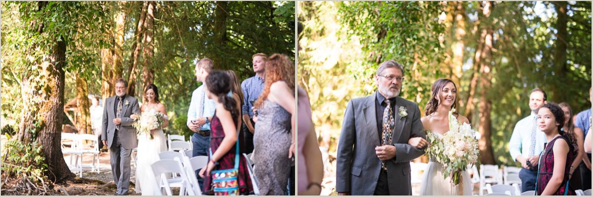 Wedding Ceremony at Robin Hood Resort Village Union Washington