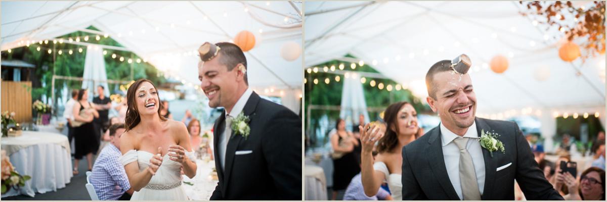 Wedding Couple Smashes Cupcakes