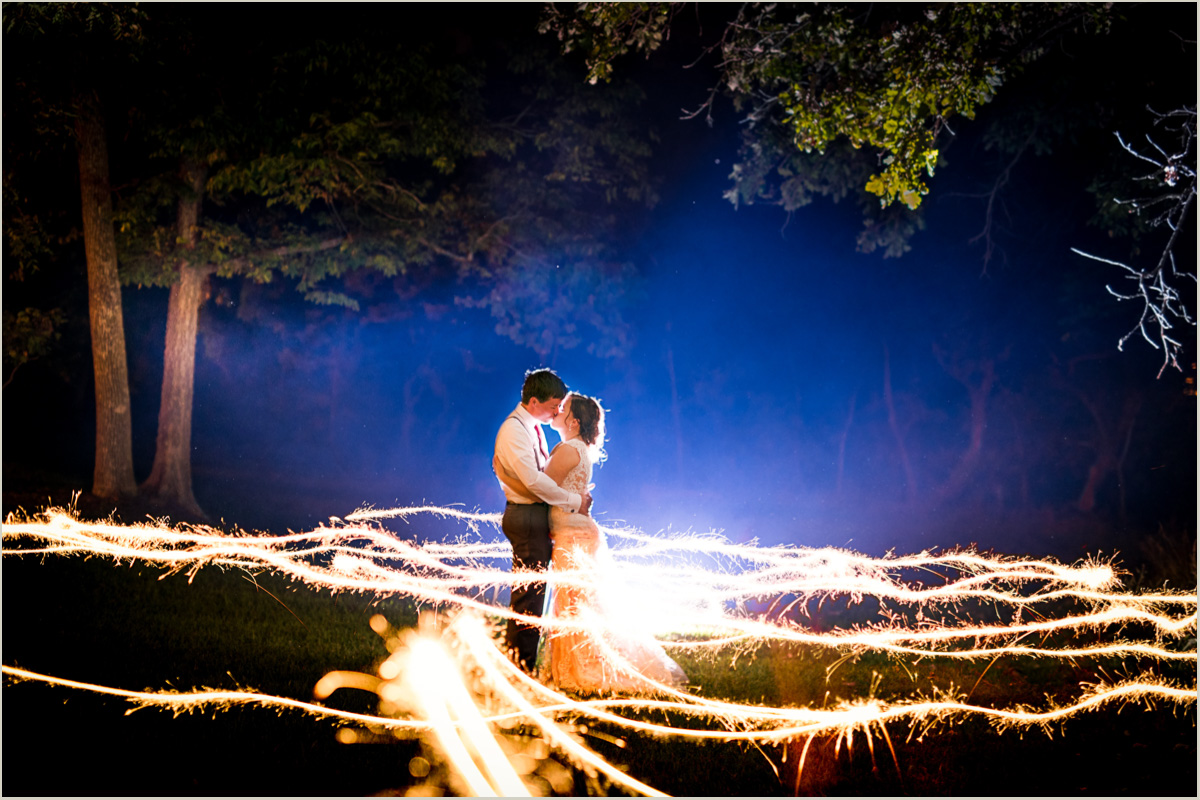 Wedding Photos with Sparklers