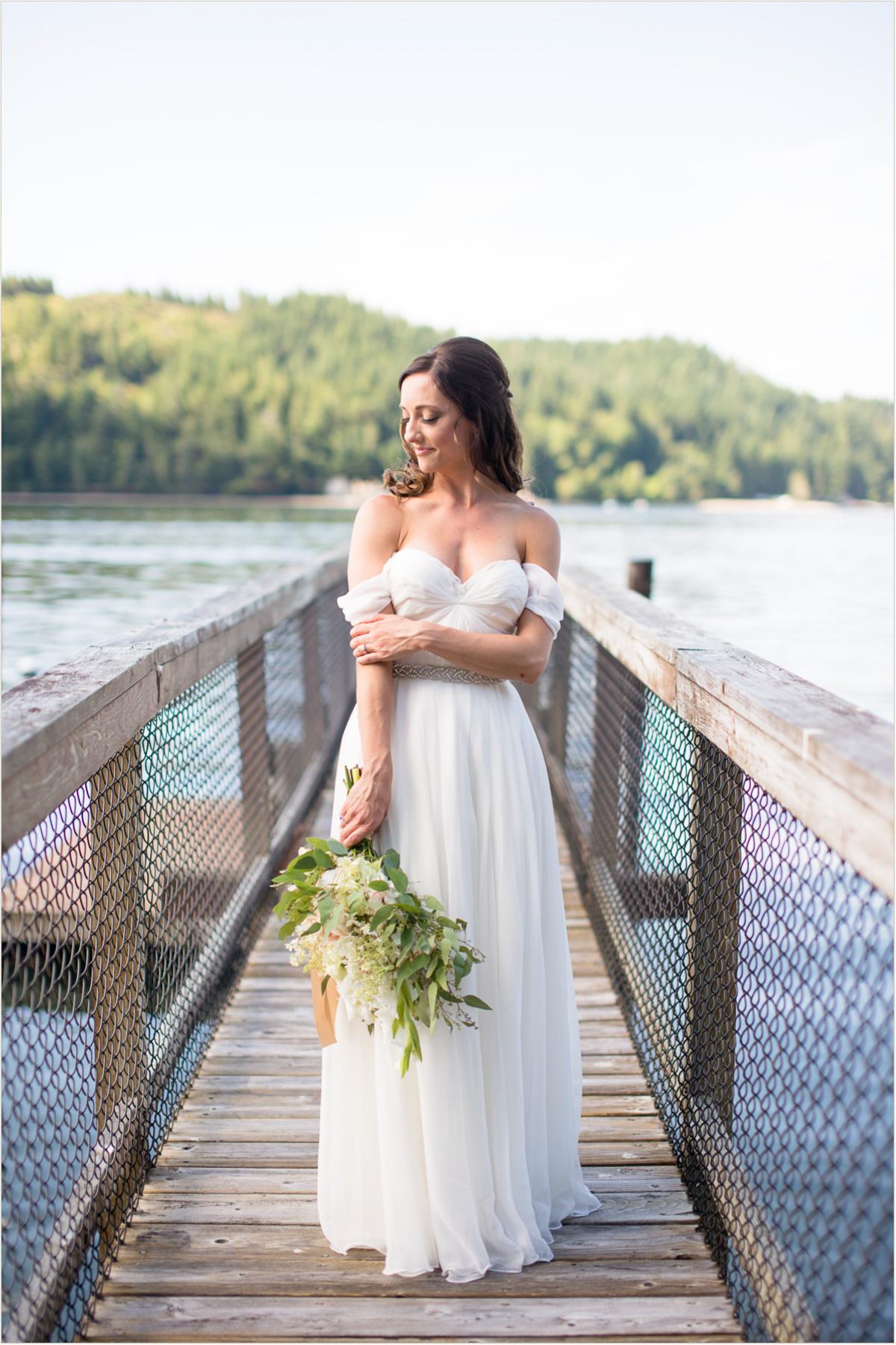 Wedding on the Hood Canal Washington