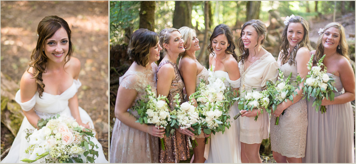 Woodland Wedding Details Bridesmaids