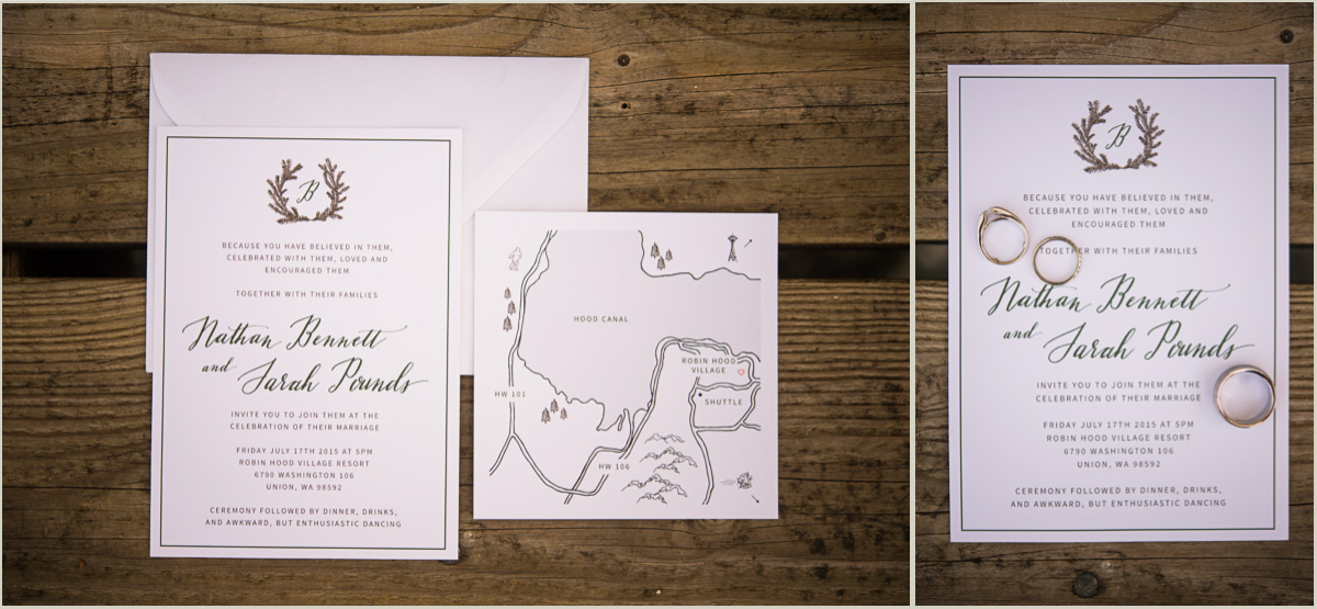 Woodsy Wedding Invitations Washington Wedding