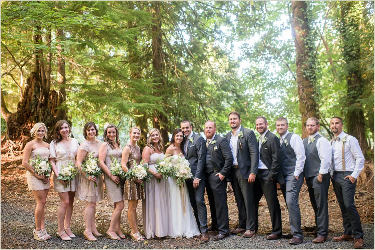 Woodsy Wedding Party Photos