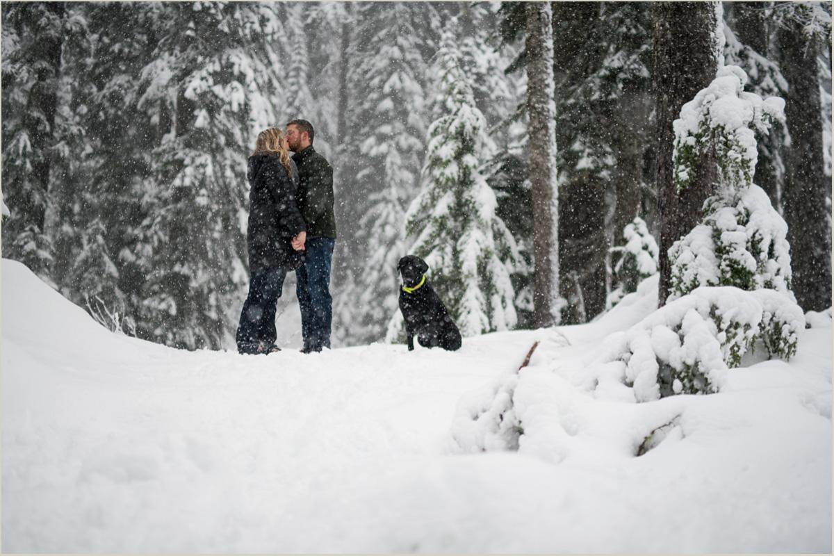 Alpental Engagement Photos in Winter