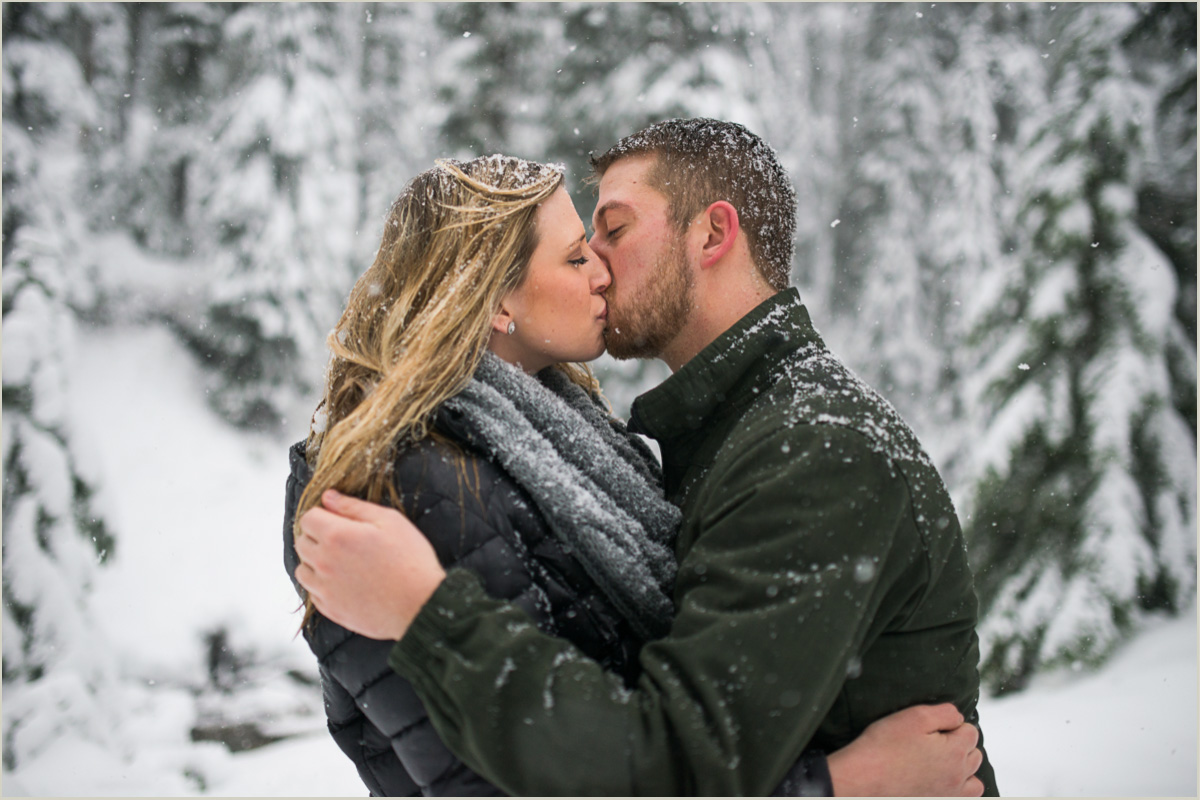 Engagement Photos in the Snow Seattle Wedding Photographers