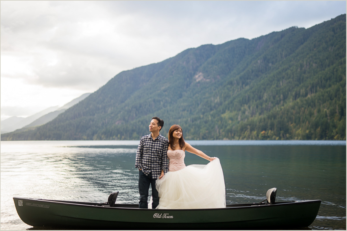 Wedding Photos at Lake Crescent Port Angeles Wedding Photographer - crescent beach wedding