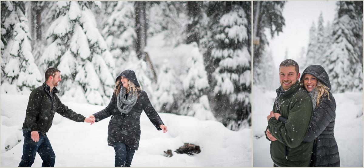 Winter Engagement Photos at Alpental