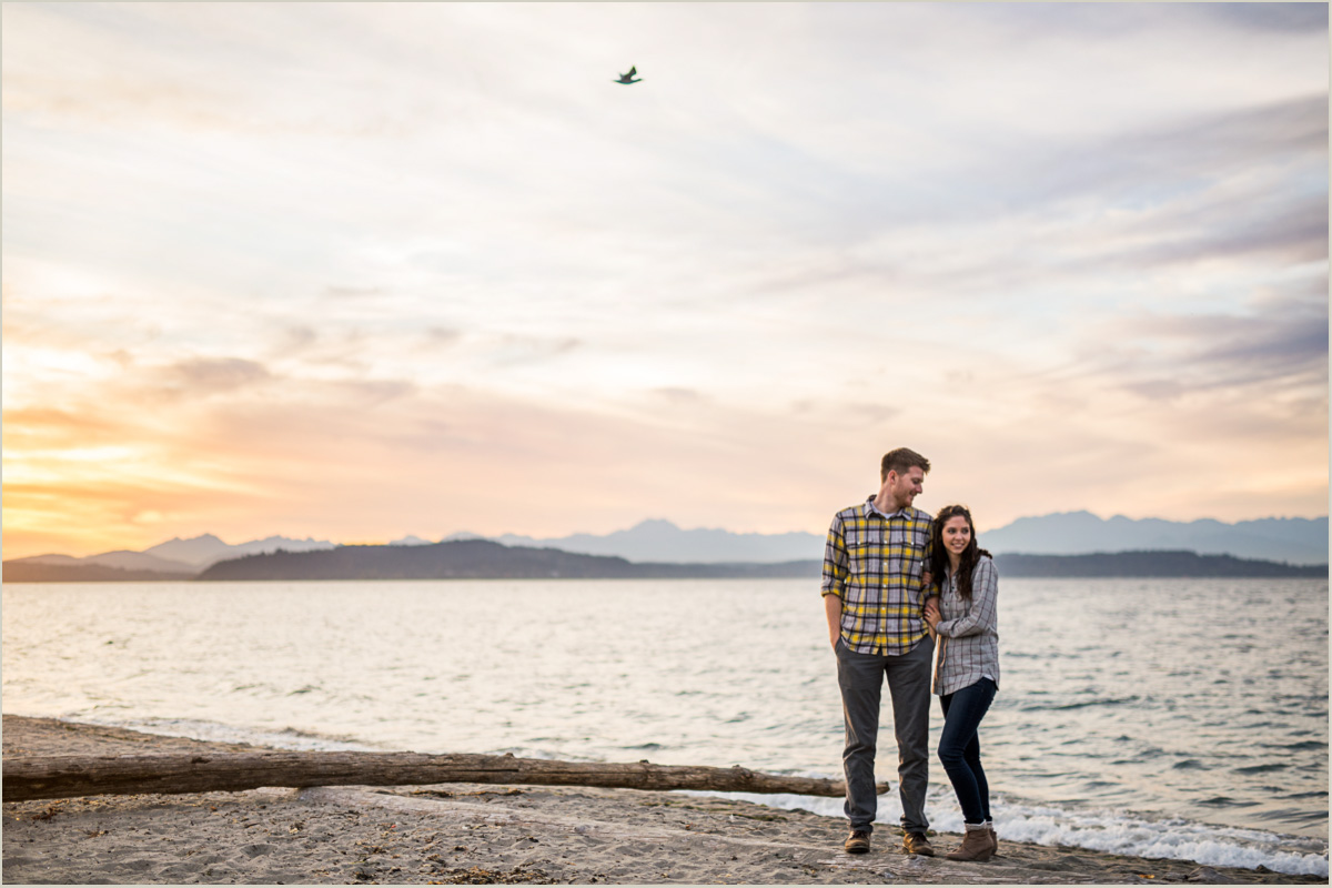Beach Engagement Session in Seattle