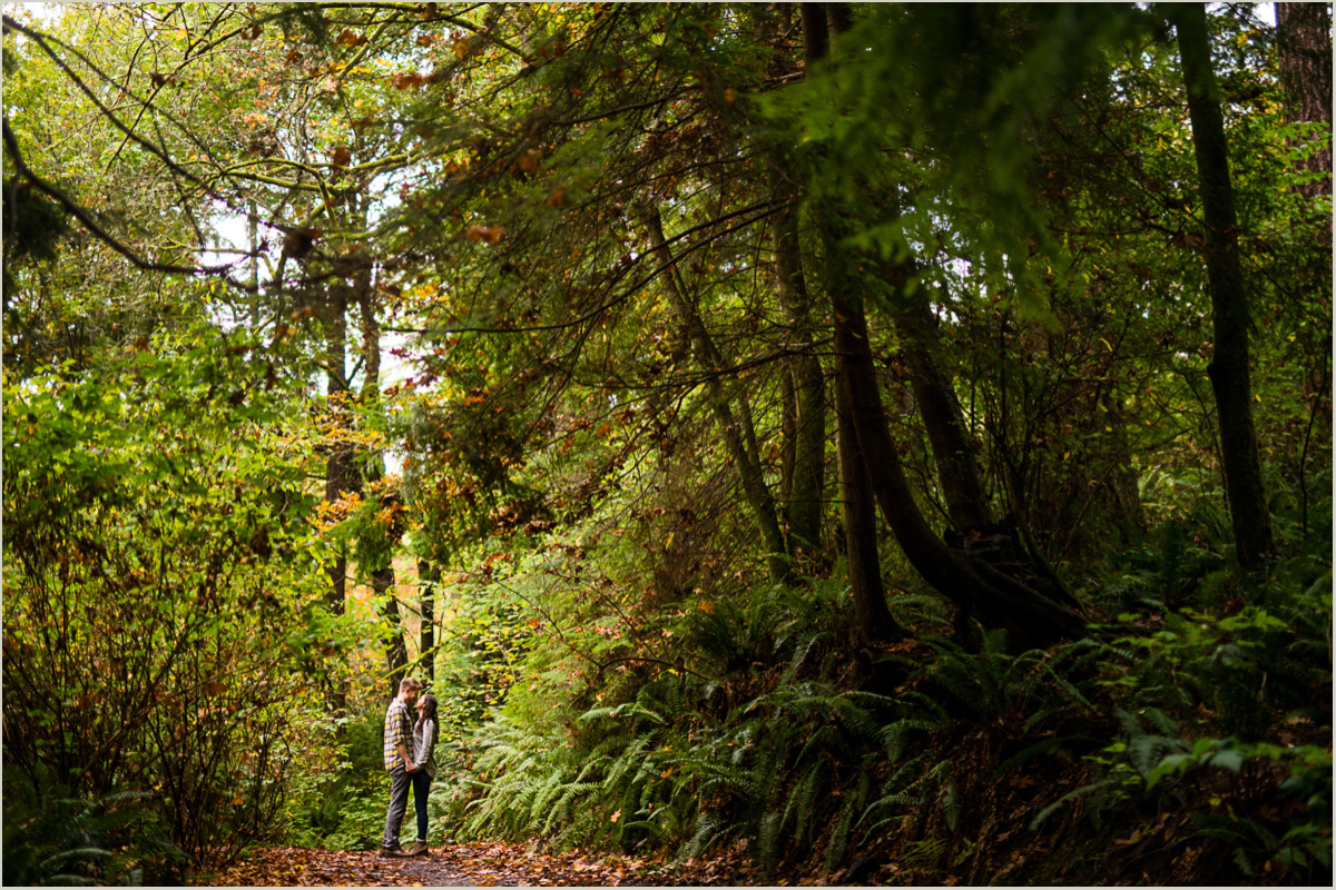 Fall Pacific Northwest Engagement Photos