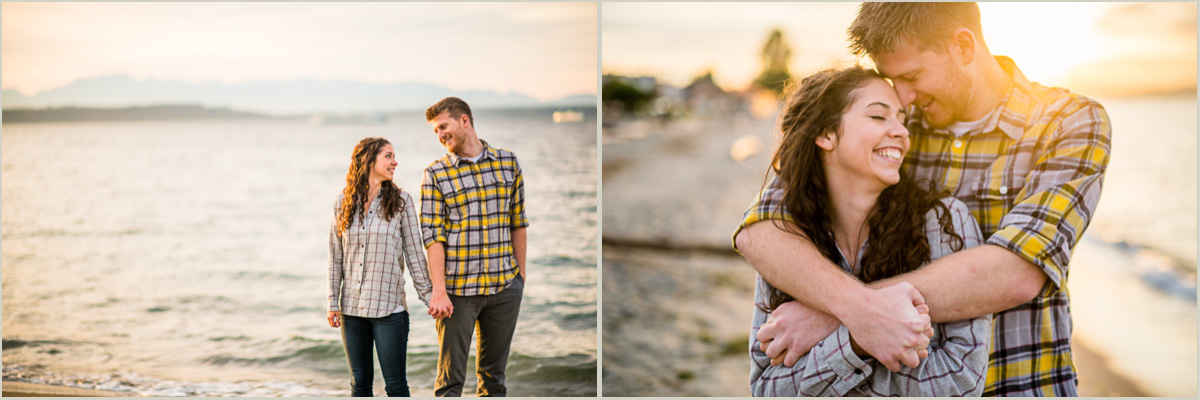 Sunset Engagement Photos in West Seattle