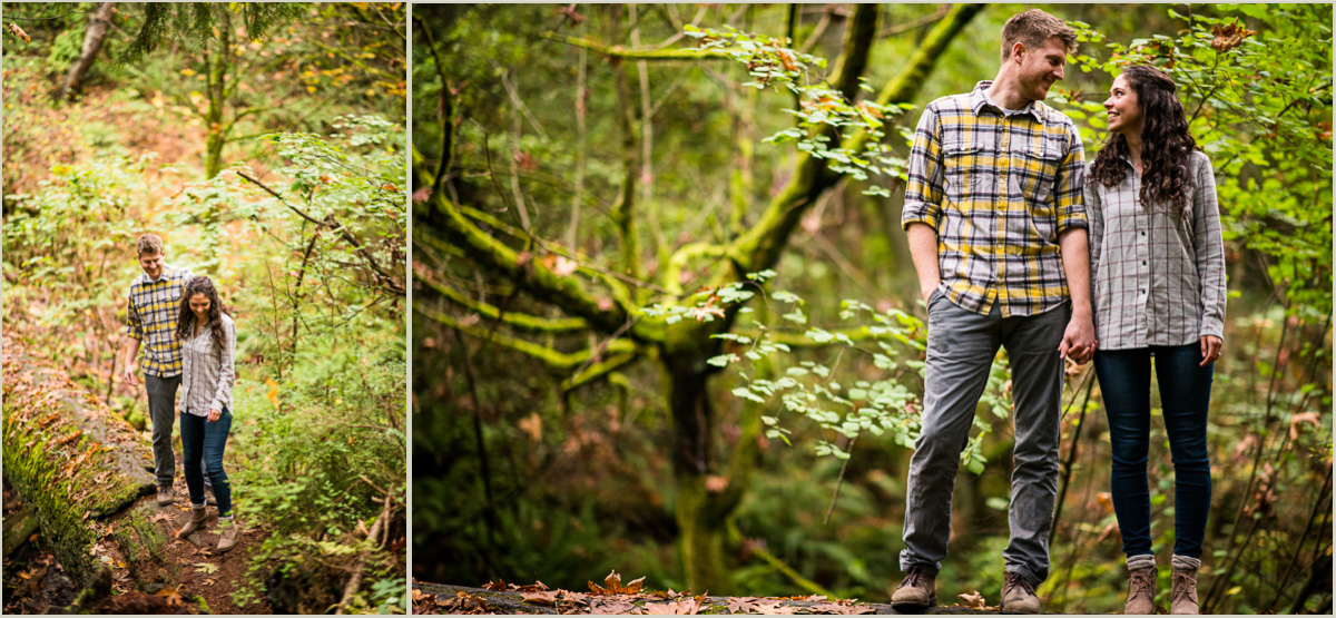 Woodsy Engagement Photos in Seattle