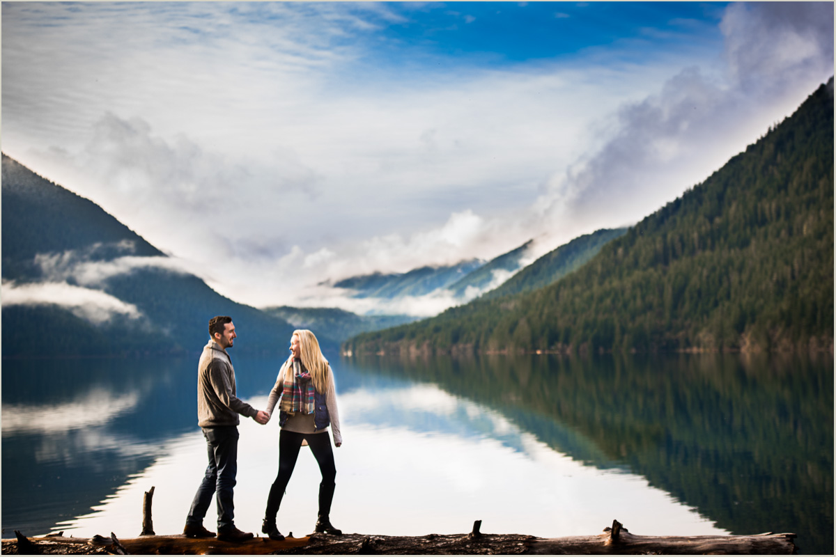 Adventurous Engagement Photos on Olympic Peninsula
