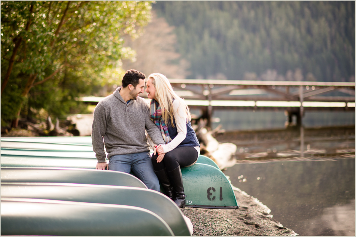 Couple in a Canoe Photos