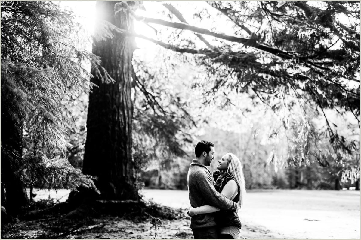Couple in the Forest in Olympic National Park