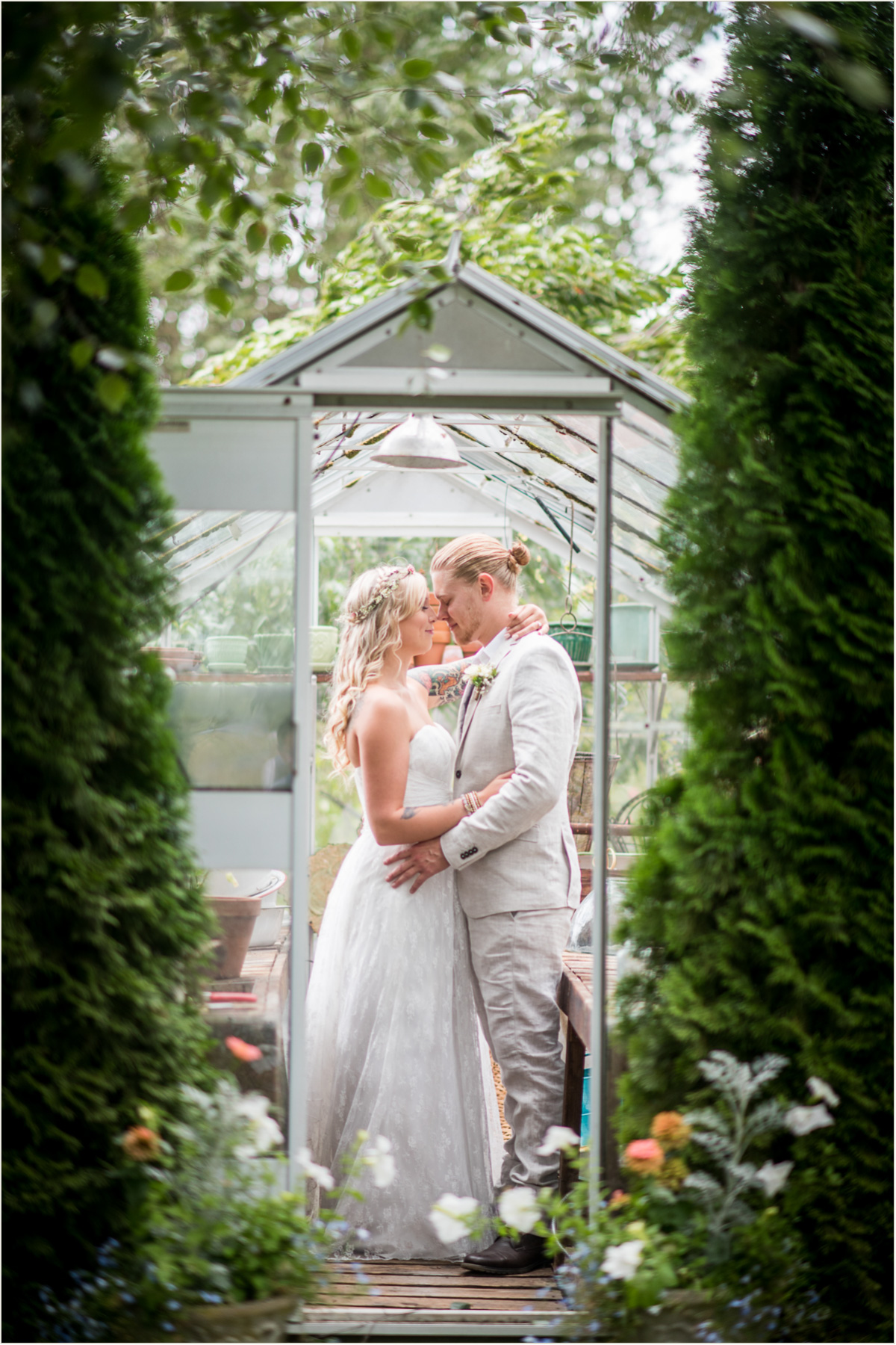 Organic Greenhouse Inspired Wedding Salt And Pine Photography