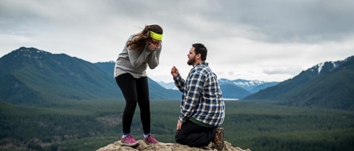 Proposal at Rattlesnake Ledge   Seattle Wedding Photographers