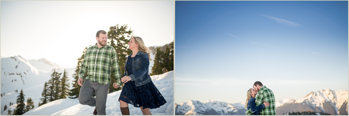 Artist Point Snowshoe Winter Engagement Session with Salt and Pine Photography