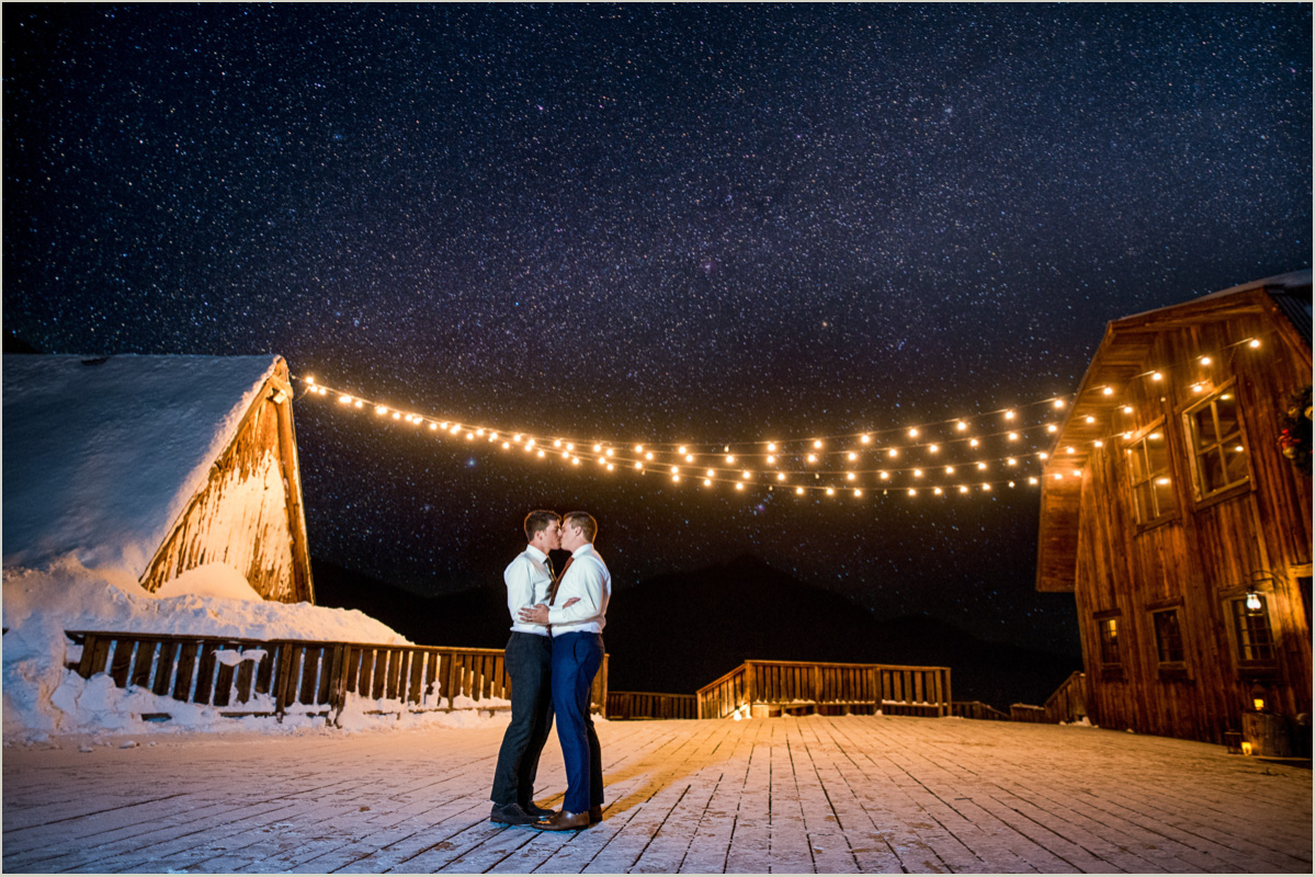 Couple Under the Stars Gorrono Ranch Wedding Telluride Colorado Photographers