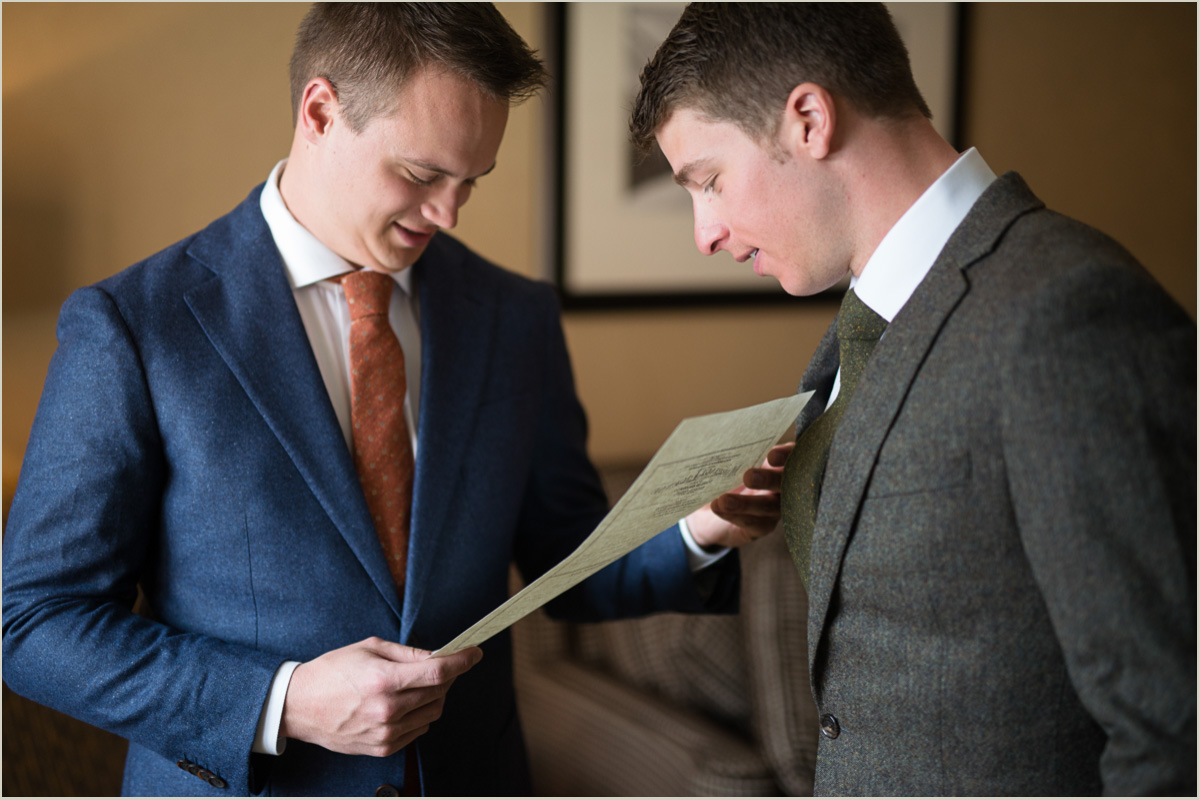 Gay Wedding Grooms Holding Marriage License
