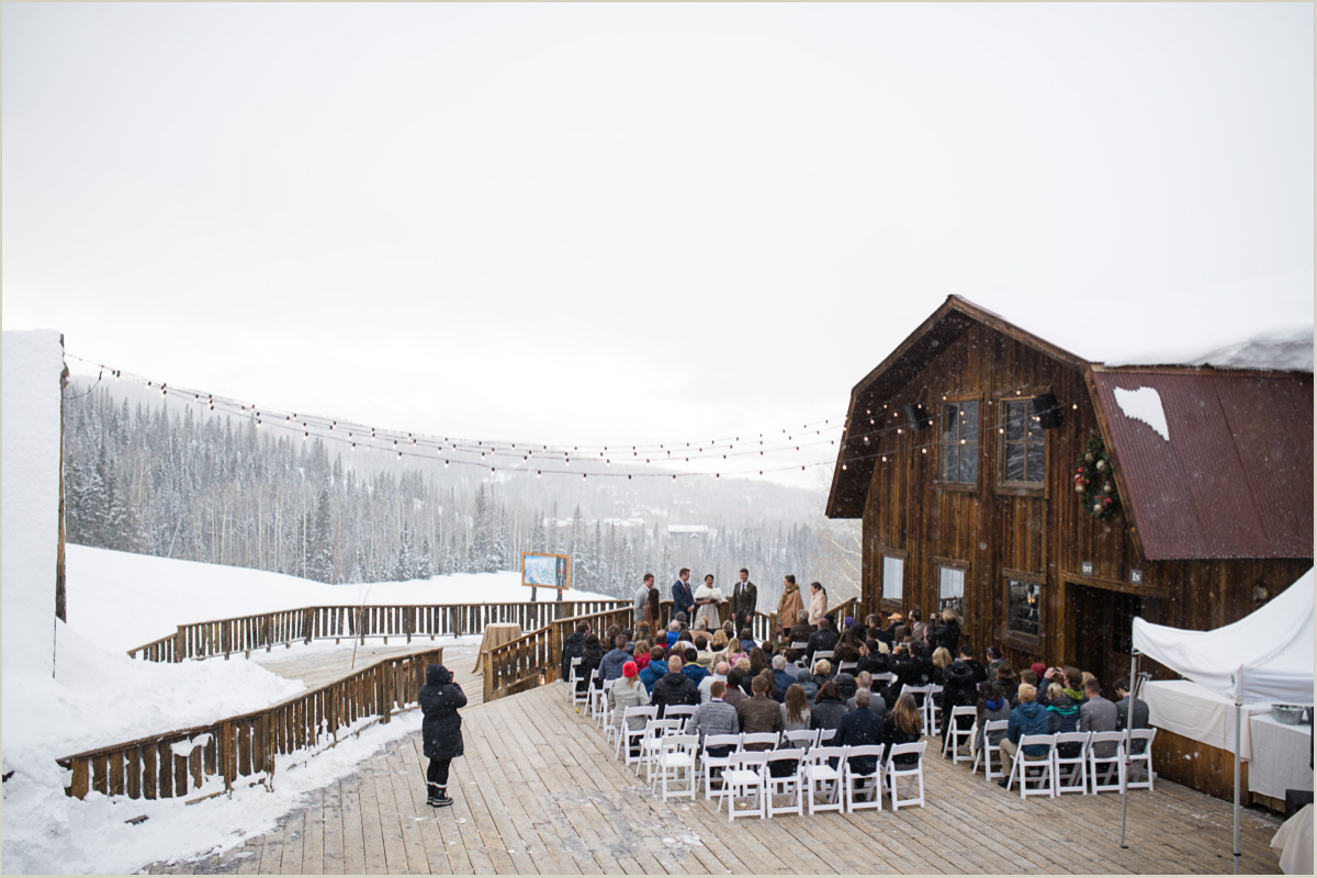 Gorrono Ranch Wedding in the Winter