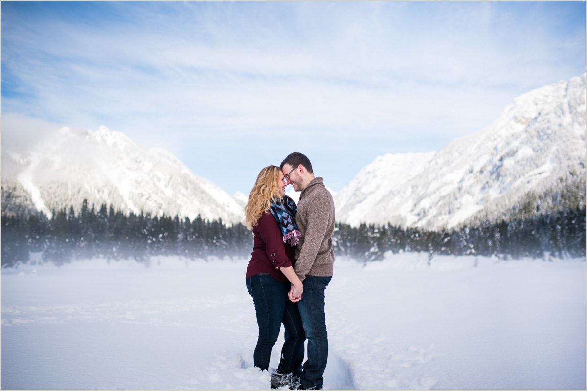 Mountain Engagement Photos at Gold Creek Pond