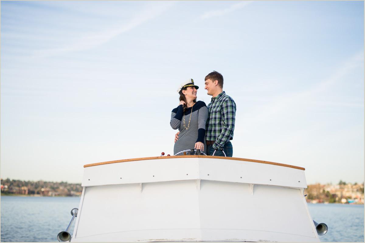 Nautical Engagement Photos