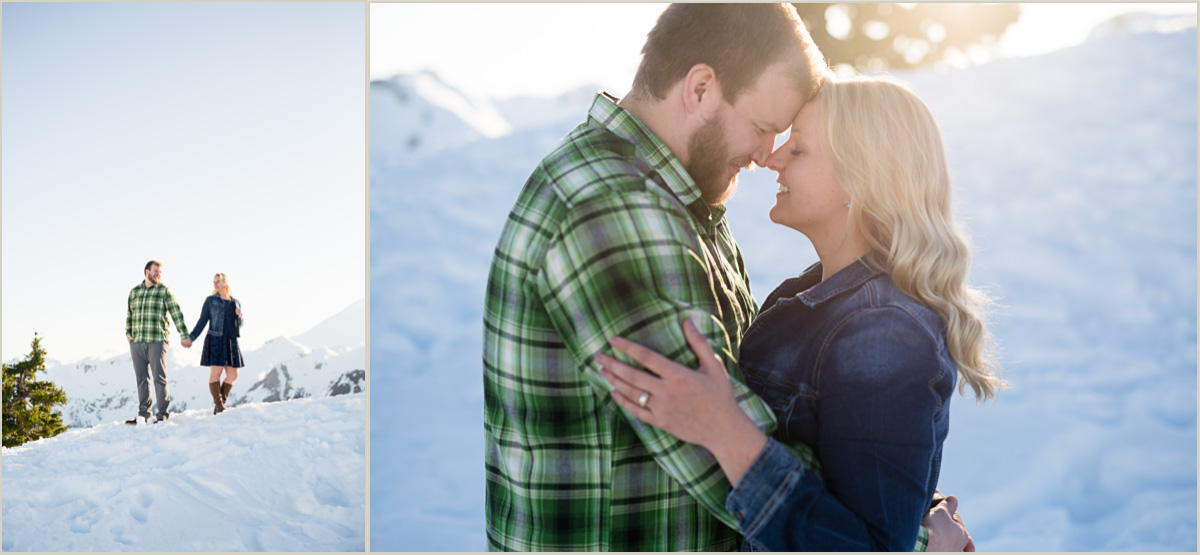 North Cascade Mountain Adventure Engagement Photography