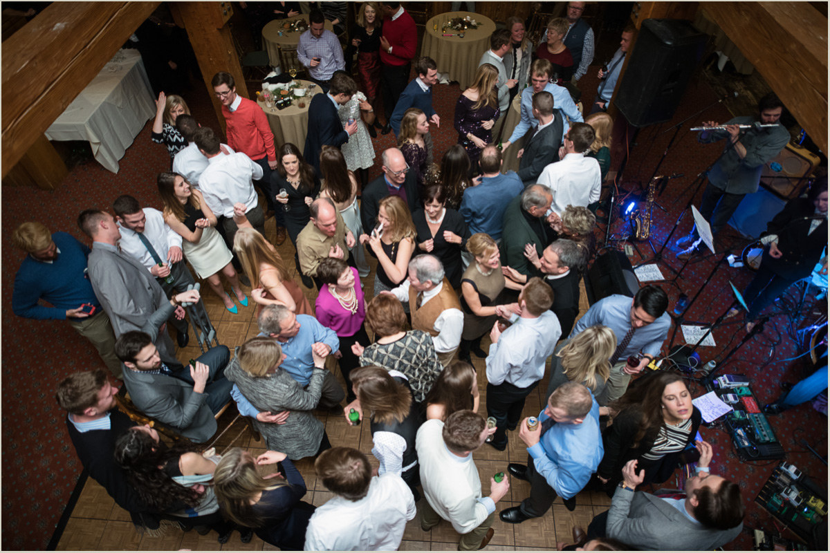 Packed Dance Floor Seattle Wedding Photographers Salt and Pine