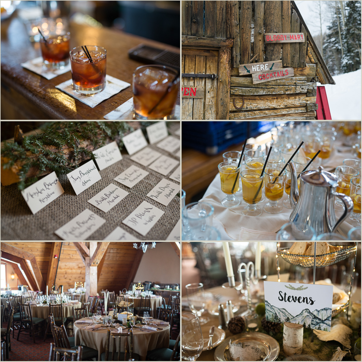 Rustic Ski Lodge Wedding Details