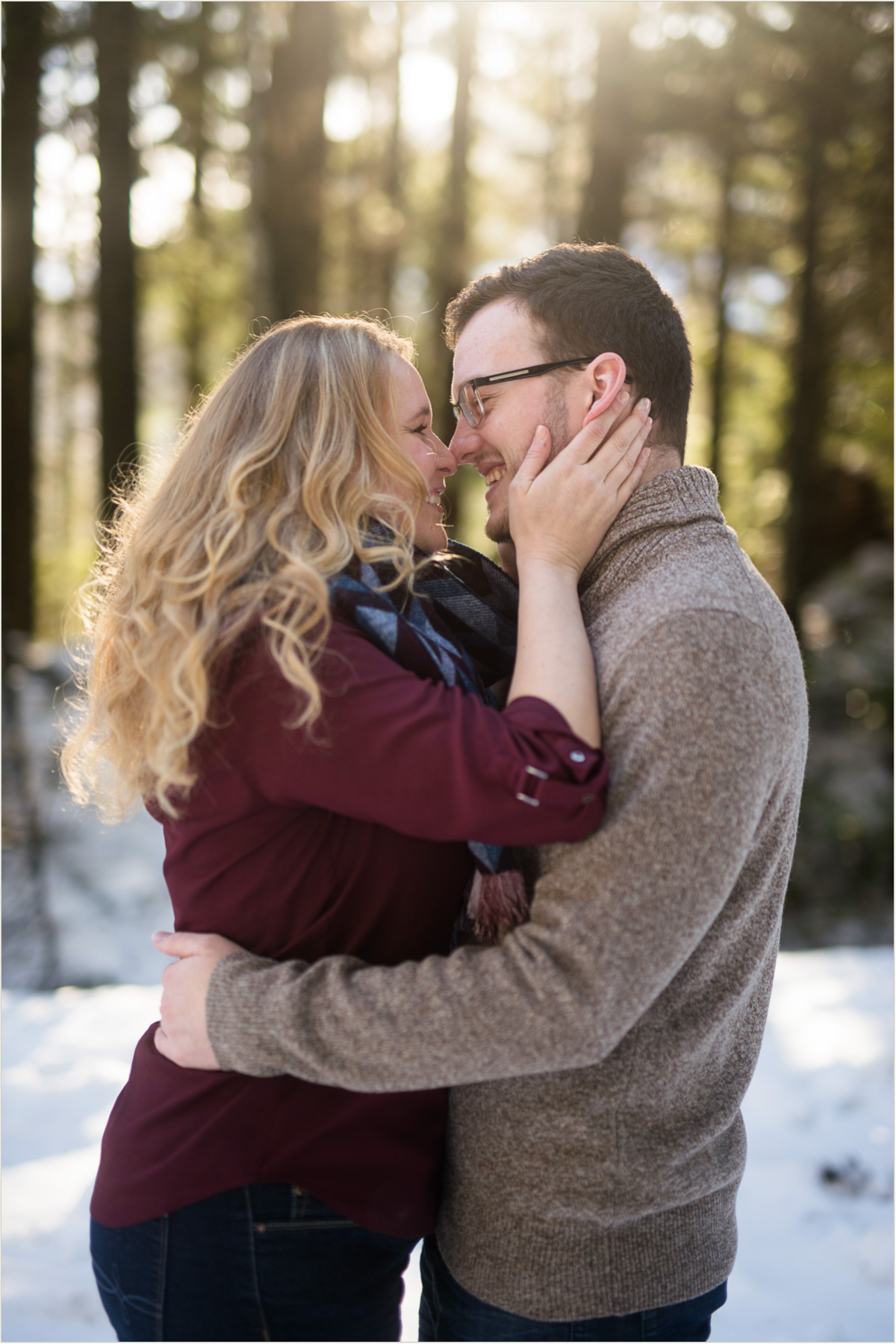 Snoqualmie Pass Engagement Photos