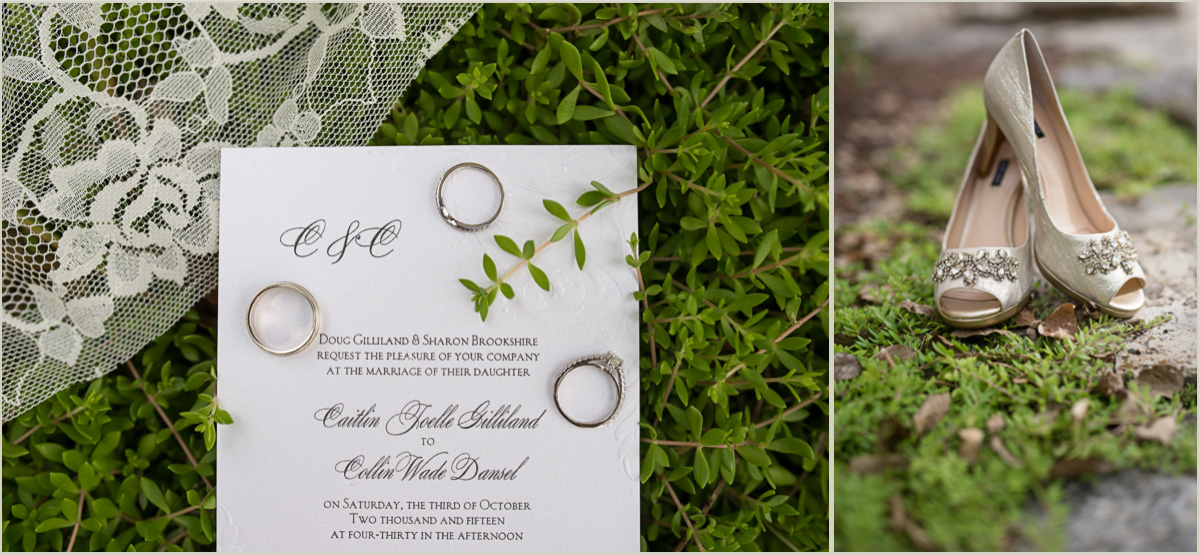 Succulent and Gold Wedding Details Kansas Wedding
