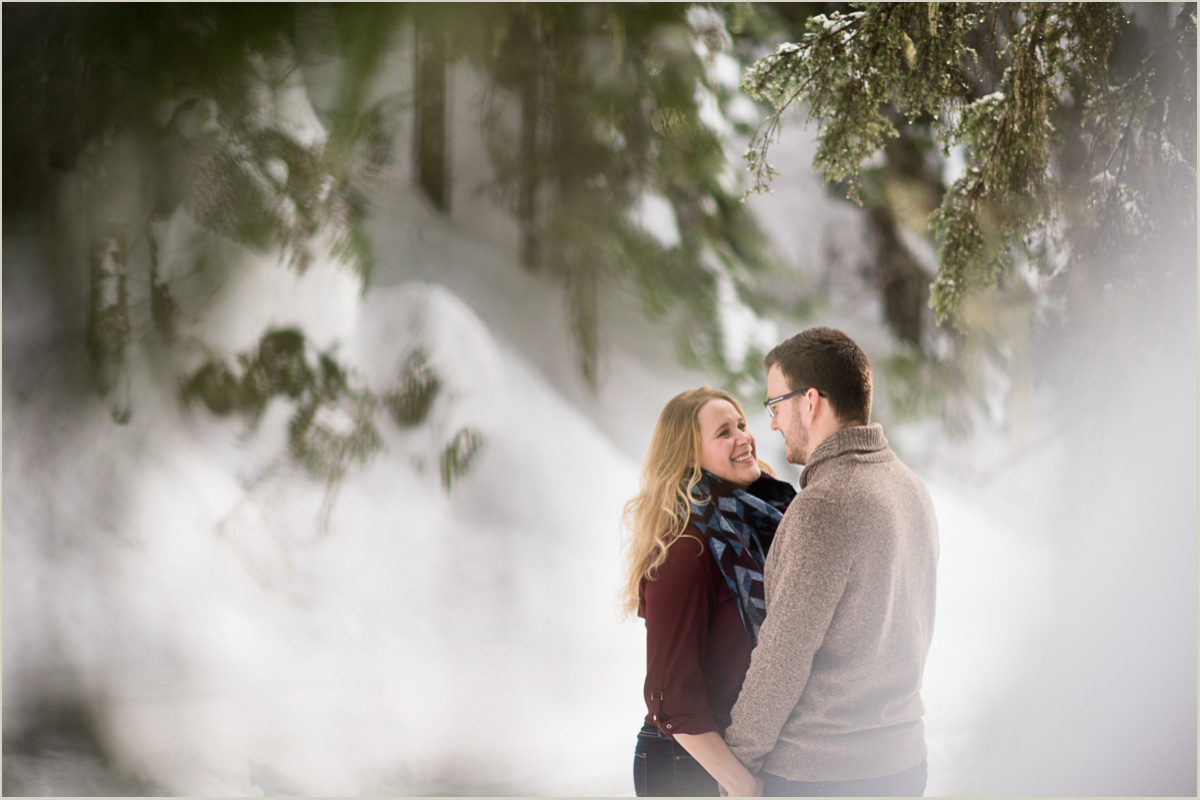 Winter Engagement Session in Washington