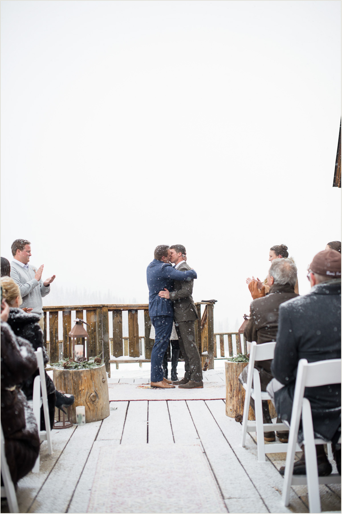 Winter Gay Ski Lodge Wedding at Gorrono Ranch Telluride Ski Resort