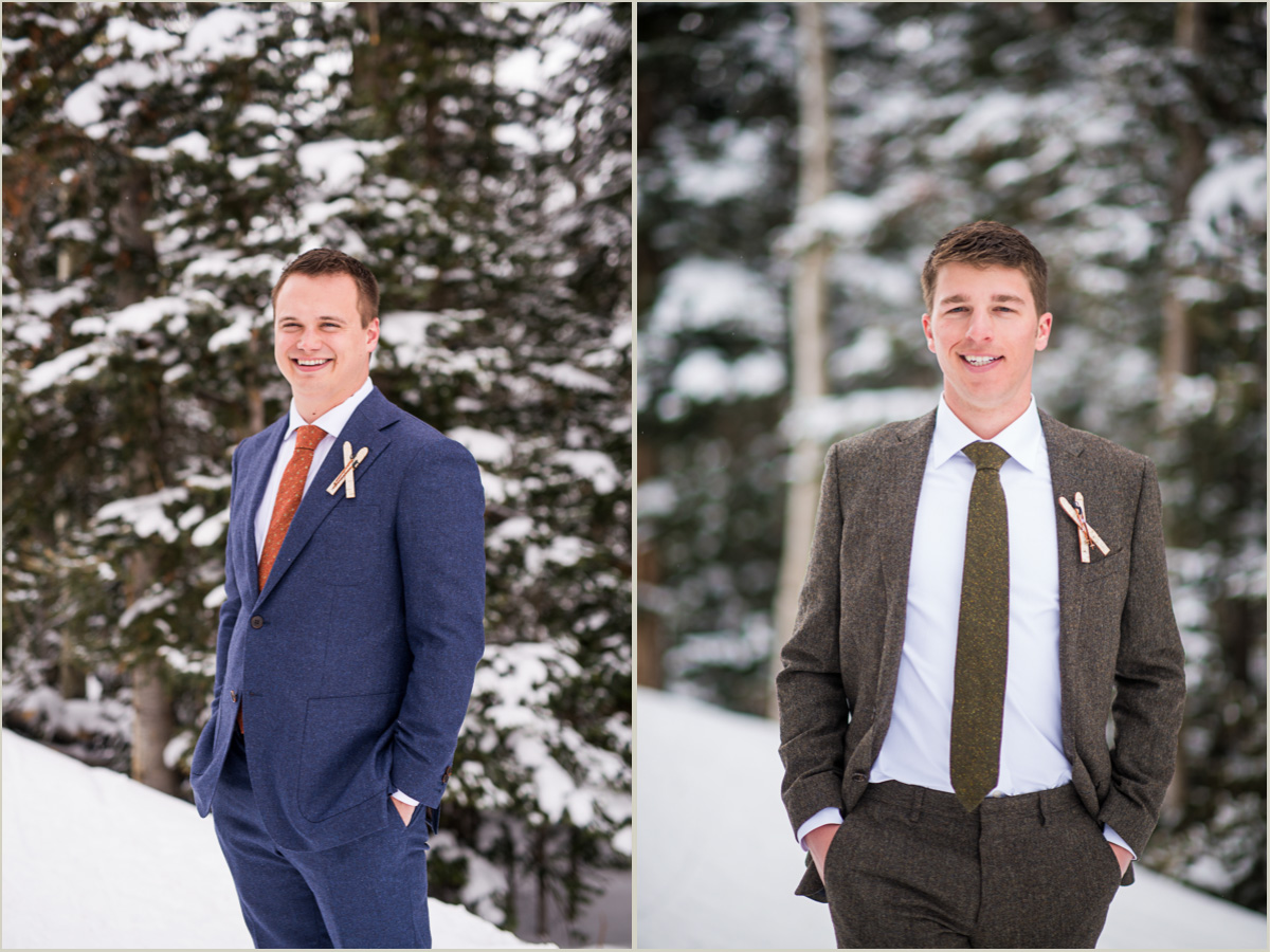 Winter Wedding Stylish Groom Suits