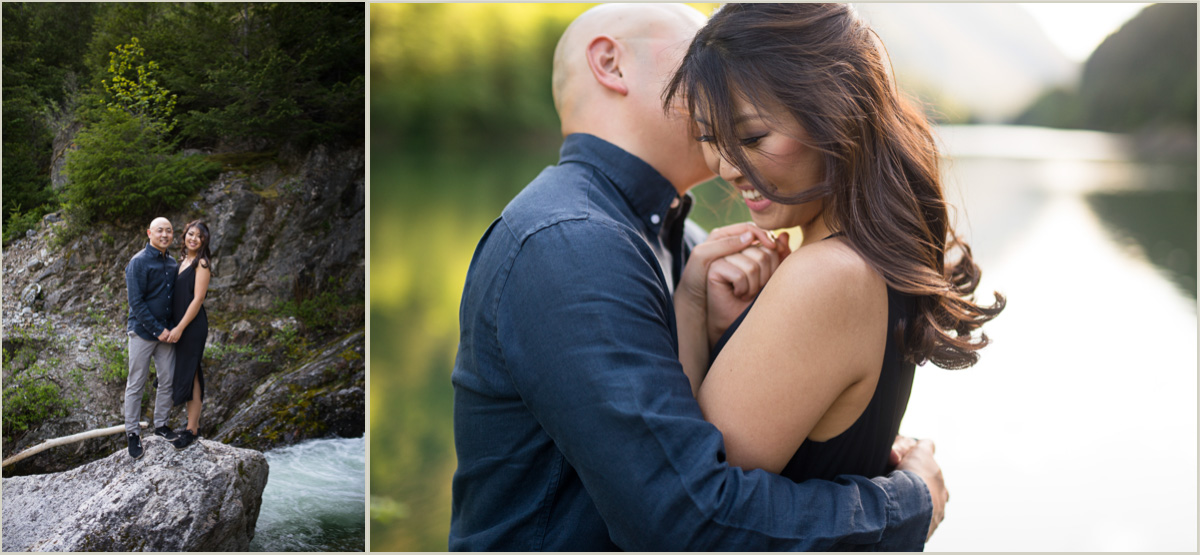 Adventurous Engagement Photos in the Cascade Mountains
