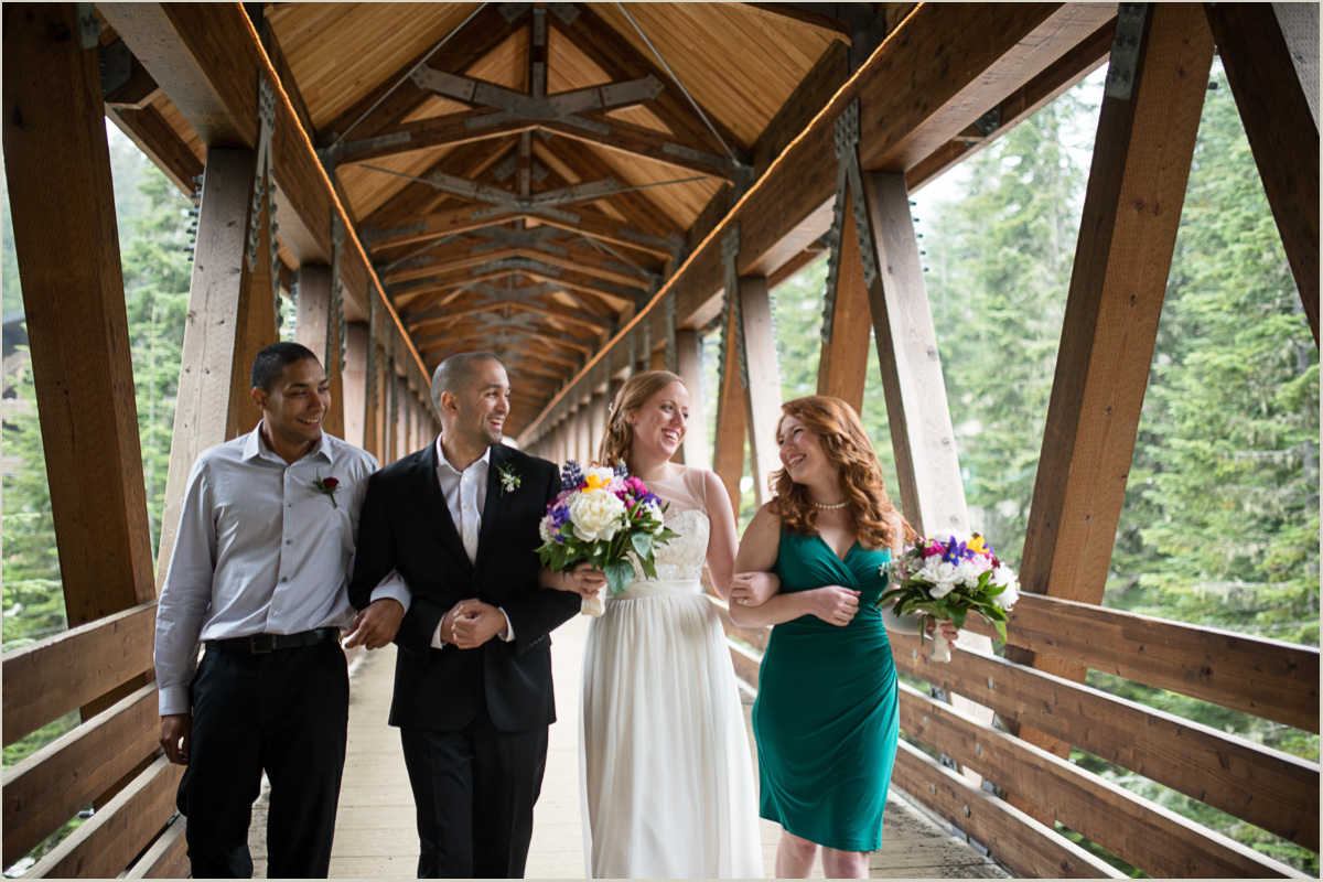 Bridal Party at Alpental Snoqualmie Pass Wedding