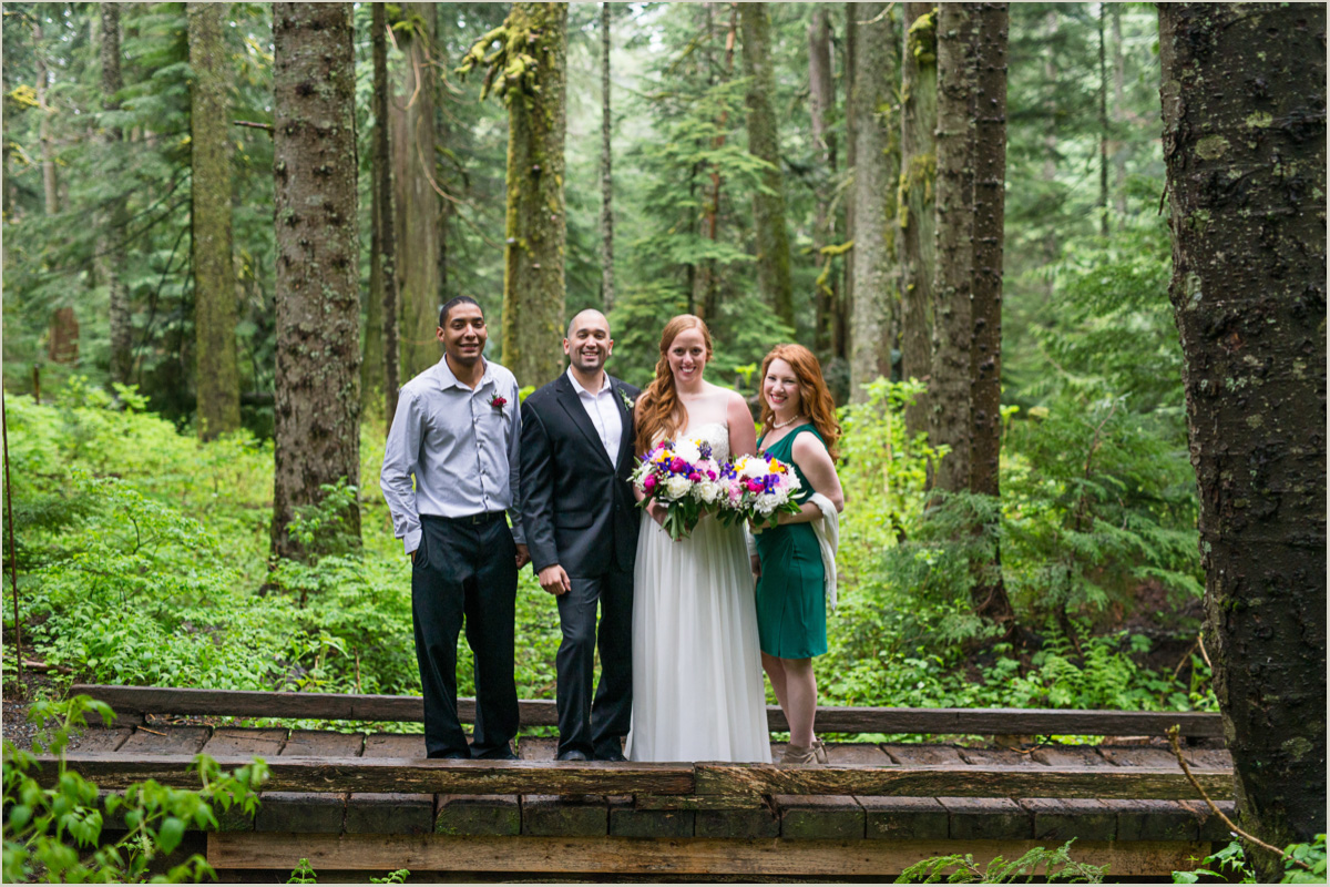 Casual Bridal Party for Oudoor Wedding in Washington