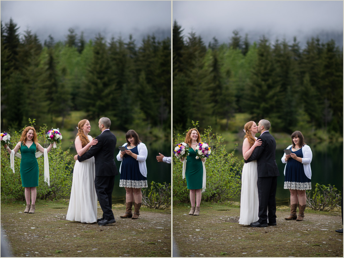 Couple Married at Gold Creek Pond Wedding in Washington
