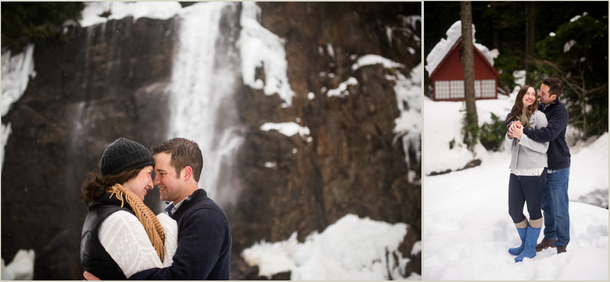 Cozy Winter Engagement Photos by Salt and Pine Photography