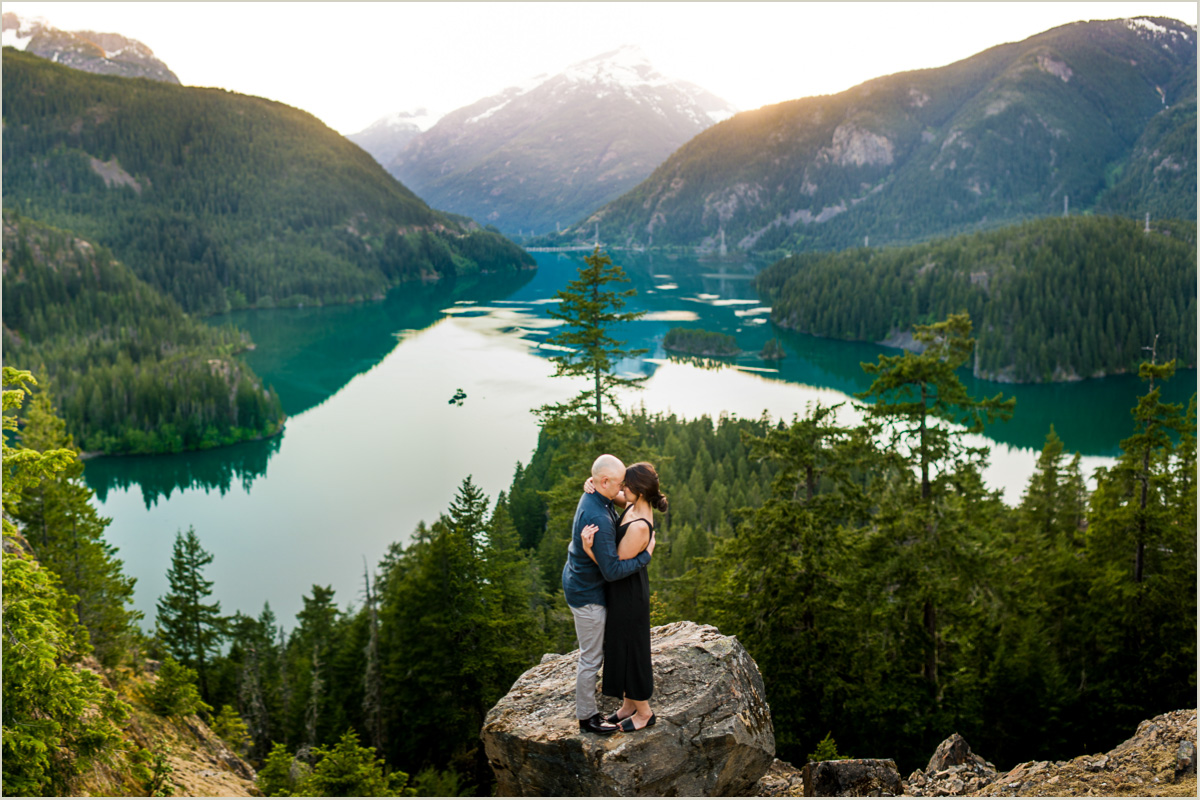 Diablo Lake Engagement Photos   Seattle Wedding Photographers