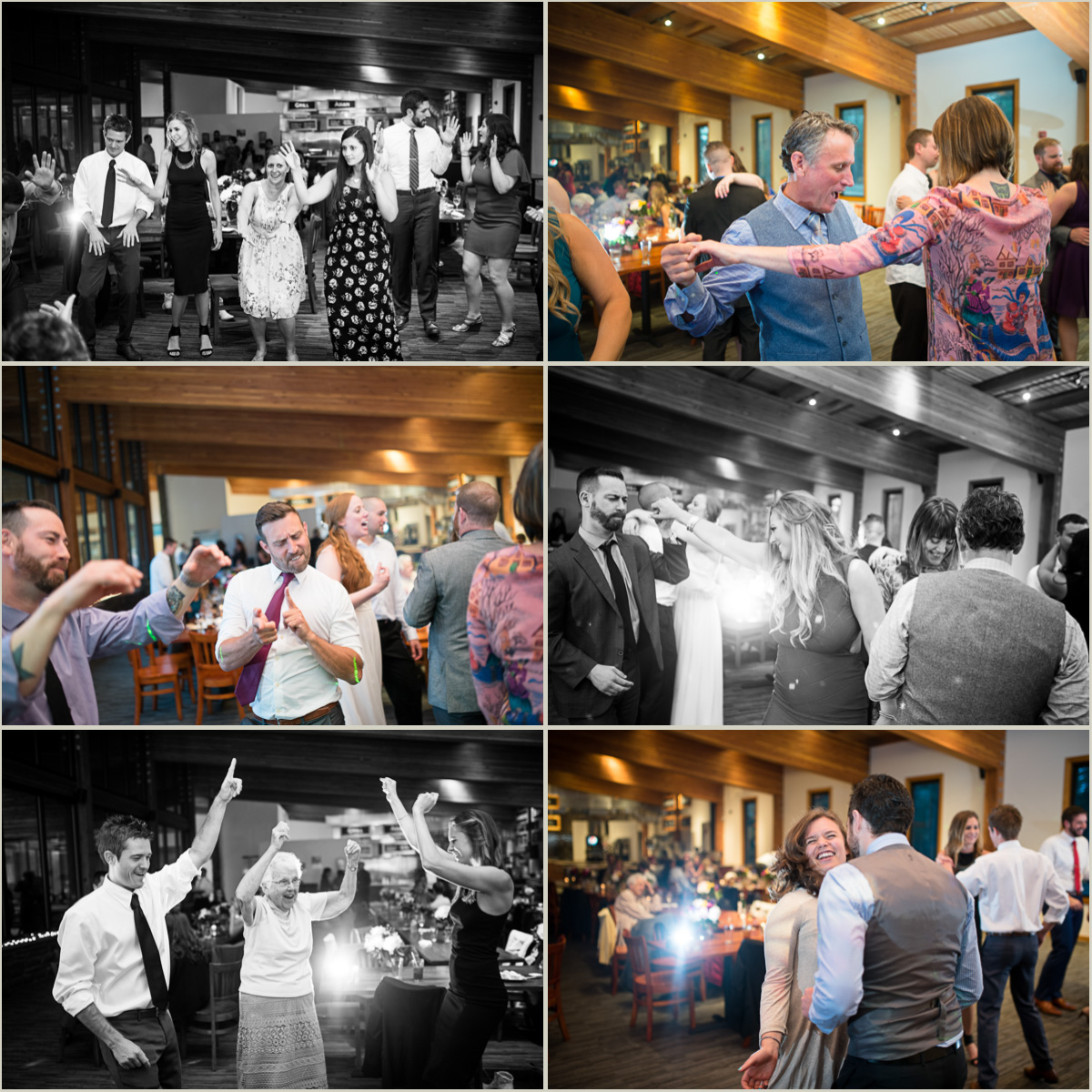 Guests Breaking down the Dance Floor at Wedding at Silver Fur Lodge