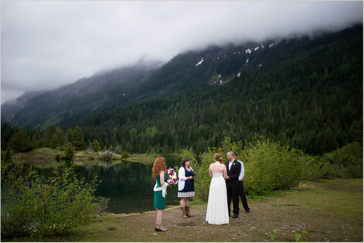 Natural Outdoor Wedding Ceremony at Gold Creek Pond