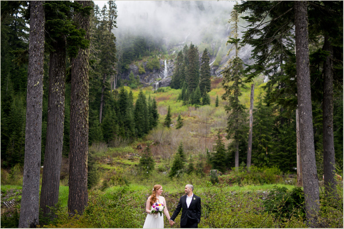 Spring Wedding at Snoquamie Pass
