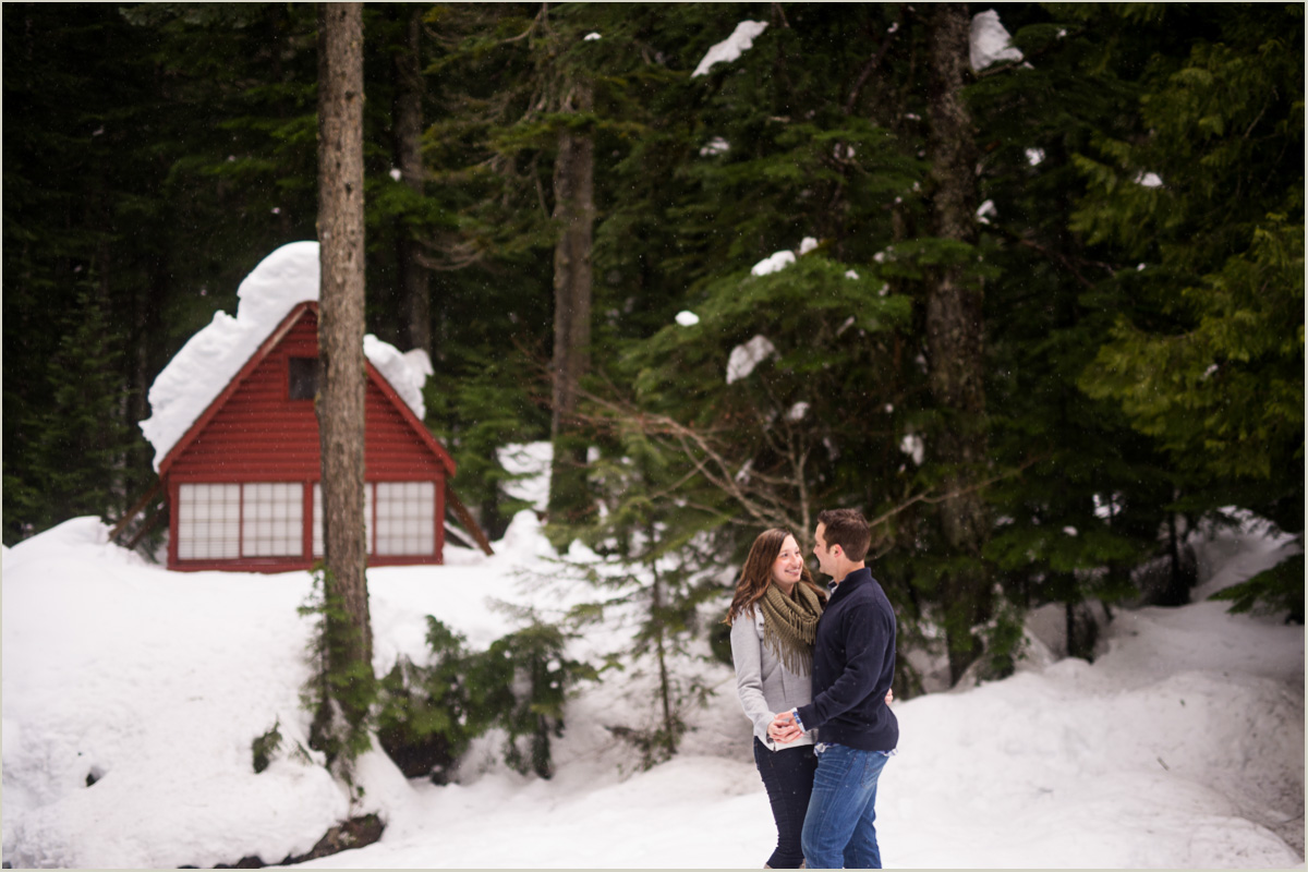 That PNW Cabin Engagement Session