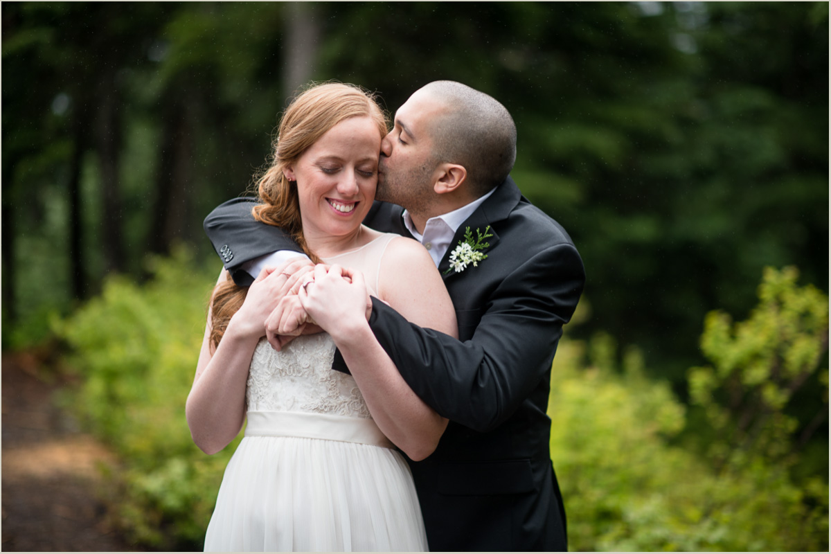 Wedding Portraits at Snoqualmie Pass in the Spring