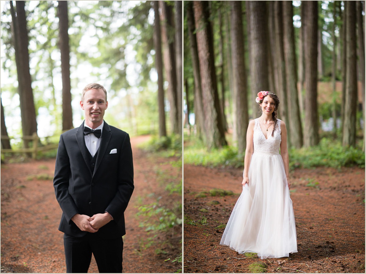 Bride and Groom at Kitsap Memorial State Park