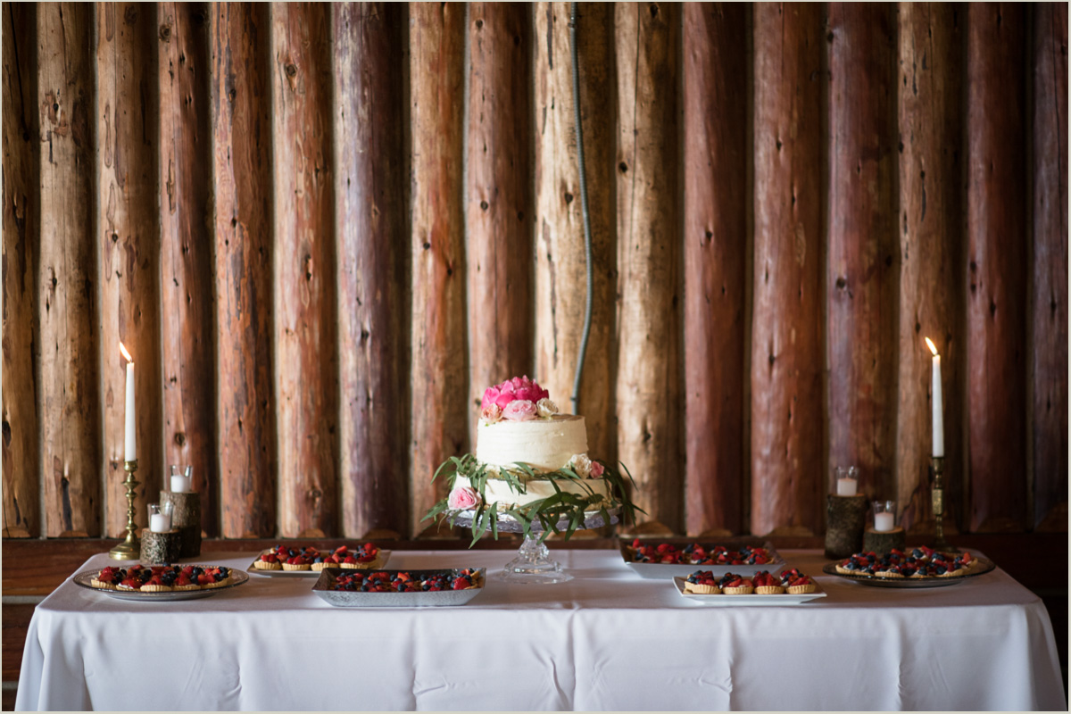 Cake Table with Peonies