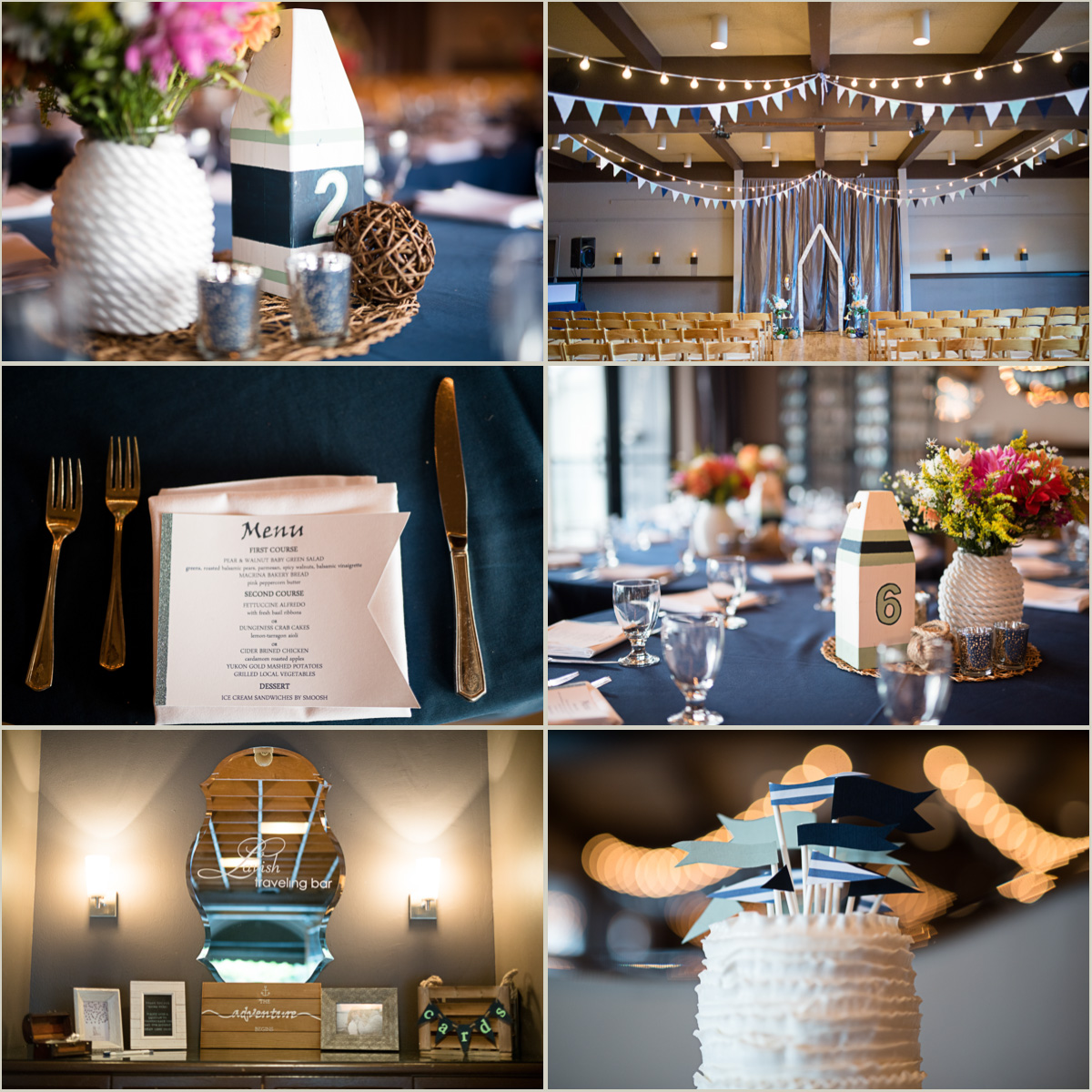 DIY Nautical Wedding at Tyee Yacht Club in Seattle Washington
