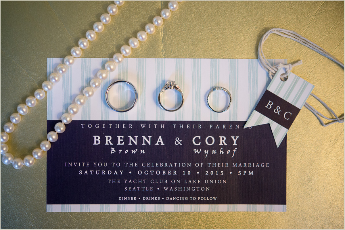 Nautical Wedding Invitation Set